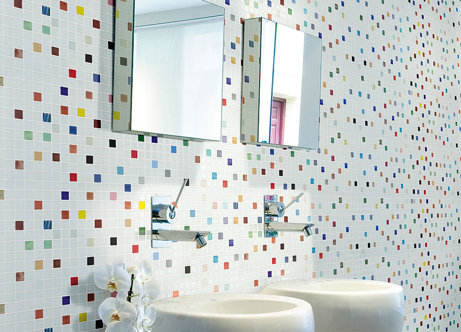 Mosaic Gl Tile By Vidrepur Mi Collection Recycled Mesh Backed Sheet In