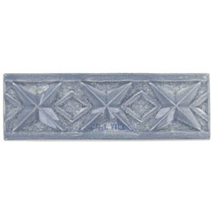 "Clear View - Bergammo - 6"" x 2"" Crackle Glass Bella Fano Border Tile in Angita"