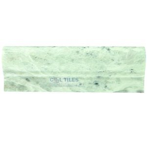 "Clear View - Stone Listello Tile - Lock Ming Green Polished 2"" x 12"""
