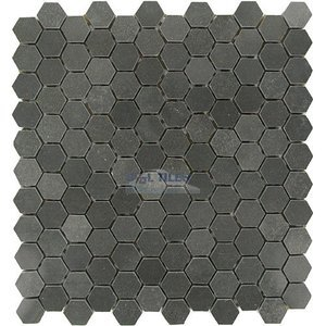 "Clear View - Marble Mosaic Tile Hexagon Vinchianzo Polished 12"" x 12"" Mesh Backed Sheet"