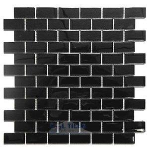 Diamond Tech Gl Tiles Dimensions Black 1 X 2 Brick Mesh Mounted Sheets