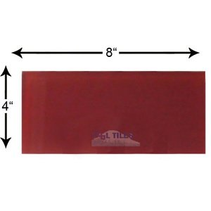 "Diamond Tech Glass Tiles - Dimensions Red 4"" x 8"" Glass Subway Tile"