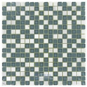 "Diamond Tech Glass Tiles - Impact -5/8"" x 5/8"" Glass Mosaic Tile in Storm"