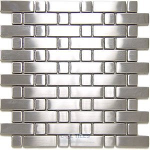 Diamond Tech Stainless Steel Tiles - Rectangle and Square Mesh Mounted Sheets