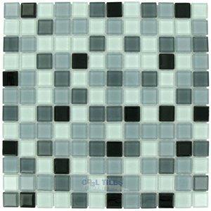 Elida Ceramica Dynasty Jubilee 12 X12 Gl Mosaic In Silver Multi