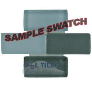 "Renaissance Tile Samples - Free Flow Crystal 7/8"" x 1 7/8"" Brick Glass Sample in Fall"