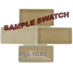 "Renaissance Tile Samples - Free Flow Crystal 7/8"" x 1 7/8"" Brick Glass Sample in Pastis"