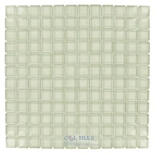 "HotGlass - Horizon 1"" x 1"" Glass Tile in Linen 11 5/8"" x 11 5/8"" Mesh Backed Sheet"