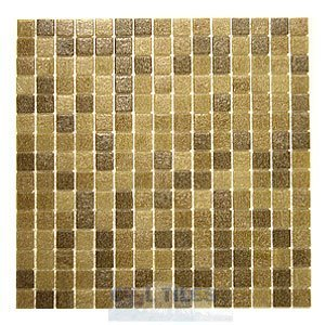"HotGlass - Classic CartGlass Blended 3/4"" Glass Oak Blend 12 7/8"" x 12 7/8"" Mesh Backed Sheet"