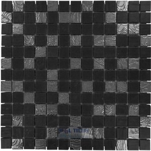 Onix Glass Tiles - Nature Blends - Upsala Black