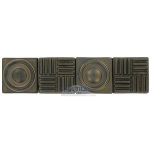 "Stellar Tile - Industry - 12"" x 3"" Ceramic Border Tile in Bronze"