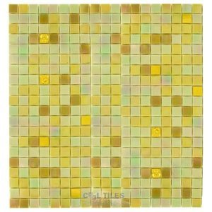"Vicenza Mosaico Glass Tiles USA- 5/8"" Blends Film Faced Sheets in Altea Rosata"