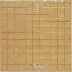 "Vicenza Mosaico Glass Tiles USA - Phoenix 5/8"" Glass Film-Faced Sheets in Summer Smile"