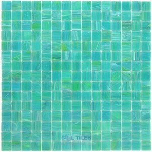 "Vicenza Mosaico Glass Tiles USA - Spark 3/4"" Glass Film-Faced Sheets in Taddeo"
