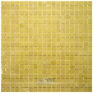 "Vicenza Mosaico Glass Tiles USA - Lumina 5/8"" Glass Film-Faced Sheets in Goldenrod"