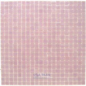 "Vicenza Mosaico Glass Tiles USA - Lumina 5/8"" Glass Film-Faced Sheets in Cotton Candy"