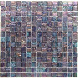 "Vicenza Mosaico Glass Tiles USA - Iride 3/4"" Glass Film-Faced Sheets in Lilac Glacier"