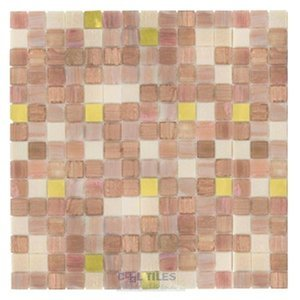 "Vicenza Mosaico Glass Tiles USA- 3/4"" Blends Film Faced Sheets in Lyrical"