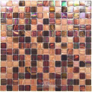 "Vicenza Mosaico Glass Tiles USA - 3/4"" Blends Film-Faced Sheets in Meditation"