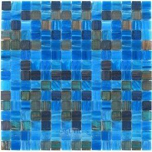 "Vicenza Mosaico Glass Tiles USA - 3/4"" Blends Film-Faced Sheets in Awareness"
