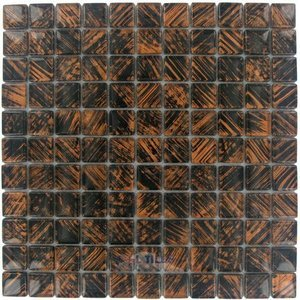 "Illusion Glass Tile - 7/8"" x 7/8"" Glass Mosaic Tile in El Gaucho"