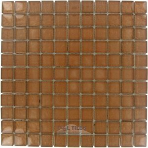 "Illusion Glass Tile - 7/8"" x 7/8"" Glass Mosaic Tile in Sienna"