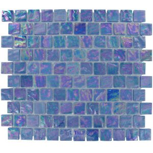 "Illusion Glass Tile - 7/8"" x 7/8"" Glass Mosaic Tile in Blue Martini"