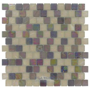 "Illusion Glass Tile - 7/8"" x 7/8"" Glass Mosaic Tile in Sangria"