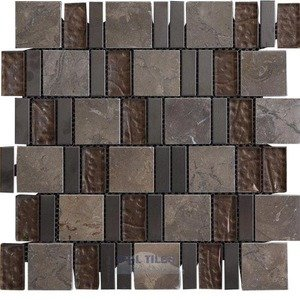 Illusion Glass Tile - Inspiration - Glass and Stone Mosaic Tile in Grit
