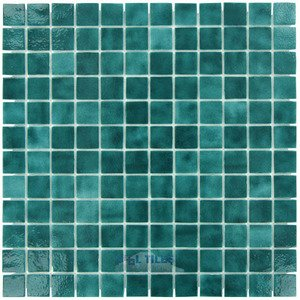 "Vidrepur Glass Tiles - 1"" x 1"" Colors II Recycled Glass Tile in Sea Foam"