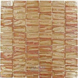 "Vidrepur Glass Tiles - 1"" x 2"" Moon Recycled Glass Tile in Titan"