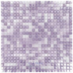 "Mosaic Glass Tiles by Vidrepur - Lux Collection 1/2"" x 1/2"" Recycled Glass Tile on 12"" x 12"" Mesh Backed Sheet in Pink Passion"