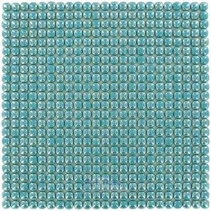 "Vidrepur Glass Tiles - 1/2"" x 1/2"" Pearl Recycled Glass Tile in Sea"