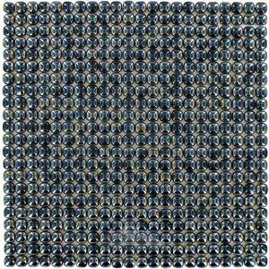 "Vidrepur Glass Tiles - 1/2"" x 1/2"" Pearl Recycled Glass Tile in Ash"
