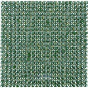 "Vidrepur Glass Tiles - 1/2"" x 1/2"" Pearl Recycled Glass Tile in Lime"