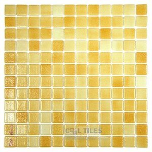 Mosaic Glass Tile by Vidrepur Glass Mosaic Anti-slip Collection Recycled Glass Tile Mesh Backed Sheet in Fog Orange Slip-Resistant