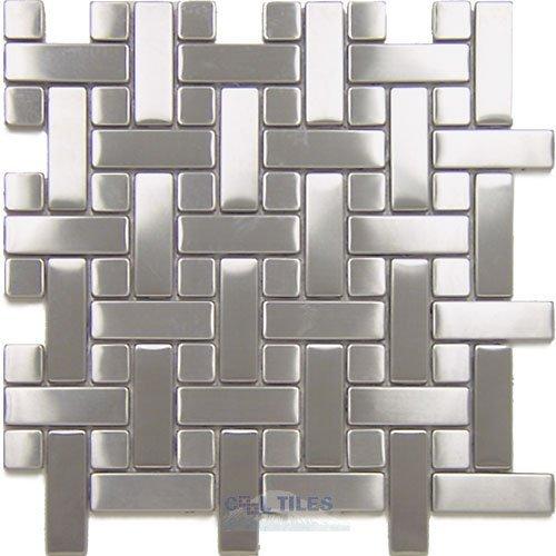 diamond tech stainless steel tiles basketweave mesh mounted sheets