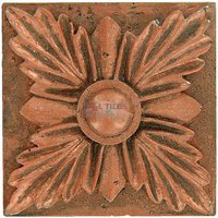 "Clear View Mosaic Tile - Resin Deco Accents - Resin Decos - Sharp Leaf Design Bronze Deco 2"" x 2"""