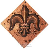 "Clear View Mosaic Tile - Resin Deco Accents - Resin Decos - Fleur de Lis Bronze Deco 2"" x 2"""