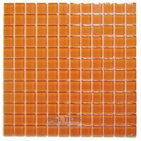 "Diamond Tech Tiles - Dimensions - Orange 1"" Square Mesh Mounted Sheets"