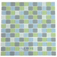"Diamond Tech Tiles - Dimensions - Breeze 1"" Square Mesh Mounted Sheets"