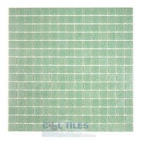 "HotGlass - Cartglass Classic - 3/4"" Glass Tile in Ice Green 12 7/8"" x 12 7/8"" Mesh Backed Sheet"