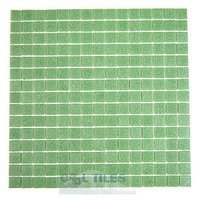 "HotGlass - Cartglass Classic - 3/4"" Glass Tile in Bright Green 12 7/8"" x 12 7/8"" Mesh Backed Sheet"