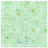 "HotGlass - Stained Glass Tile - 7/8"" Glass Tile in Creme de Menthe"