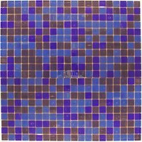 "Vicenza Mosaico Glass Tiles - Mosaic Blends 5/8"" - Film-Faced Sheets in Iridaceae"