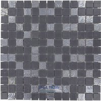 Onix Mosaico Glass Tiles - Nature Blends Series - Upsala Dark Grey