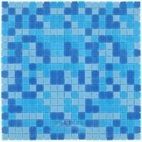 "Vicenza Mosaico Glass Tiles - Mosaic Blends 5/8"" - Film-Faced Sheets in Pervinca"
