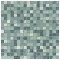 "Stellar Tile - Tessera - 5/8"" x 5/8"" Glass & Stone Mosaic Tile in Alaskan View"