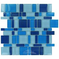 Stellar Tile - Tessera - Glass Mosaic Tile in Celeste
