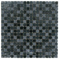 "Stellar Tile - Tessera - 5/8"" x 5/8"" Glass & Stone Mosaic Tile in Bizanco"